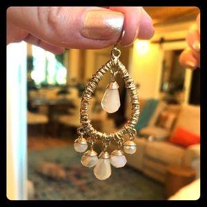 White chandelier earrings from Nordstrom's